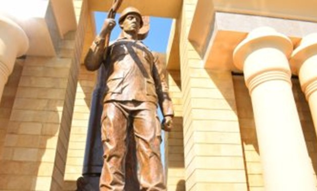 The first memorial to honor the martyrs of Luxor Governorate was inaugurated on January 25,2020 - Press Photo