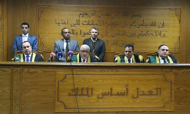 Aswan terrorism court handed down on Monday sentences of imprisonment ranging from 3-25 years to 36 convicts over charges of joining the Islamic State terrorist group (Daesh)- Photo by Ashraf fawzy/ Egypt Today