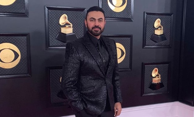 Mohammed Karim at the Grammy Awards red carpet - Karim's official Facebook account