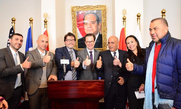 The French Ambassador, Stephane Romatet, visited the Egyptian Language Schools, to honour the school for the outstanding effort in the field of education in Egypt for decades - Press Photo