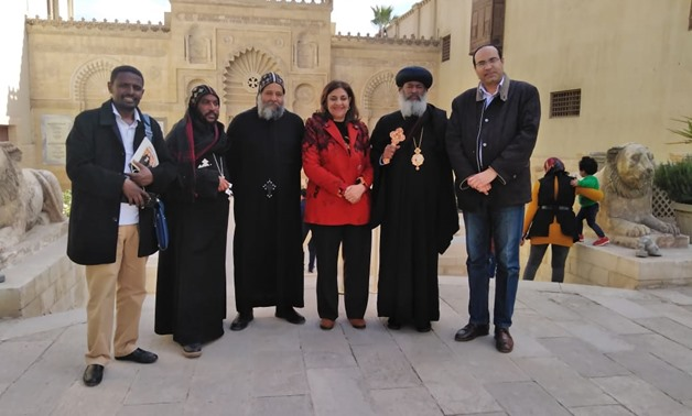 The Ethiopian delegation at the Coptic Museum - Press photo
