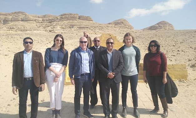 Australia's Ambassador in Cairo Glenn Miles on Thursday made a tour of all archaeological spots in Minya governorate - Press photo