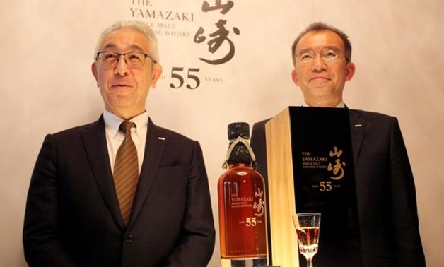 Japan's Suntory Holdings on Thursday unveiled a limited edition 55-year-old Yamazaki single malt whisky, which it will sell for 3 million yen ($27,347.31) a bottle, aiming to bolster its credentials as a premium whisky maker.