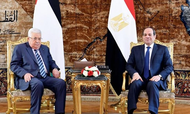PRESS: Egyptian President Sisi receives his Palestinian counterpart in Cairo.