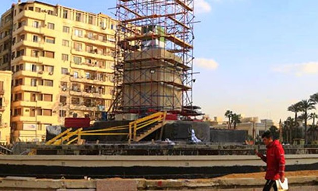 Part of the renovation works of Tahrir Square - ET