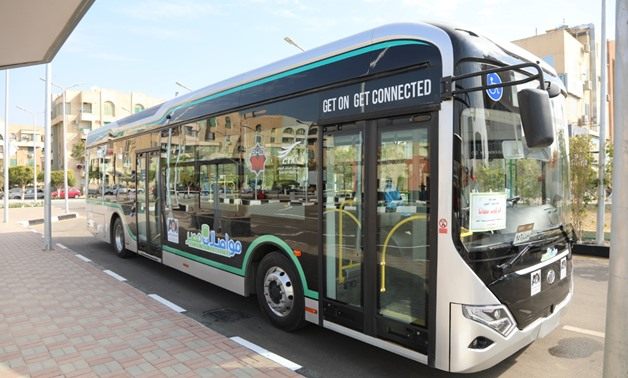 Mwasalat Misr S.A.E announced the operating the electric bus, X-Bus, in Abdel Moneim Riad and New Cairo lines - Press photo