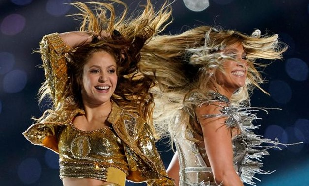 Jennifer Lopez and Shakira brought Latina star power to Sunday's Super Bowl halftime show, delivering a medley of pop hits and hip-shaking choreography on one of the world's glitziest stages - Press Photo