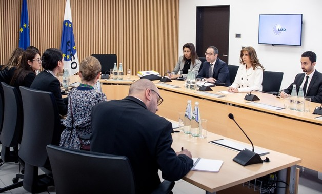 Nina Gregori, the executive director of the European Asylum Support Office (EASO) in Malta, welcomed Friday Egyptian Ambassador Nada Draz, and Deputy Assistant Minister of Foreign Affairs for Migration, Refugees and Combating Human Trafficking, Amrel-Sher
