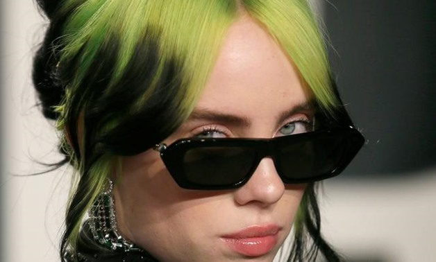 FILE PHOTO: Billie Eilish attends the Vanity Fair Oscar party in Beverly Hills during the 92nd Academy Awards, in Los Angeles, California, U.S., February 9, 2020. REUTERS/Danny Moloshok/File Photo.