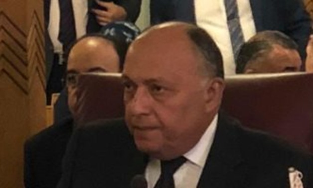 FILE- Foreign Minister Sameh Shoukry- press photo