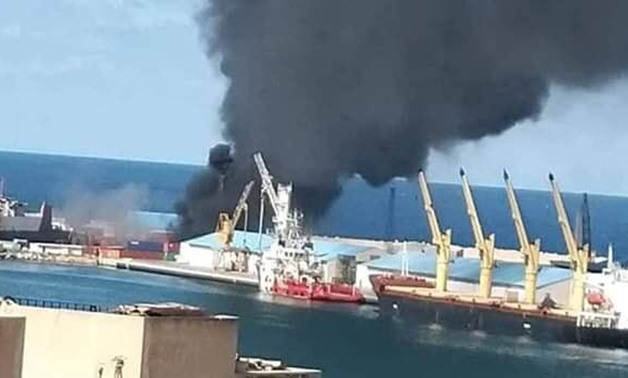 The Libyan National Army (LNA) led by Khalifa Haftar on Tuesday announced destroying a Turkish ship in the Port of Tripoli, in the capital, which it said was carrying weapons and ammunition