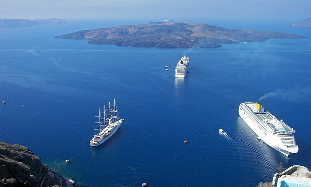 Cruise ships in Greece- CC via Pixabay/olleaugust