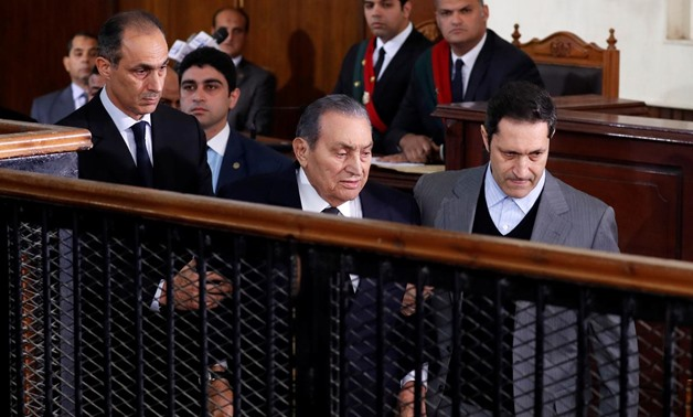 Former Egyptian President Hosni Mubarak testifies during a court case accusing ousted Islamist president Mohamed Mursi of breaking out of prison in 2011, in Cairo, Egypt, December 26, 2018. REUTERS/Amr Abdallah Dalsh