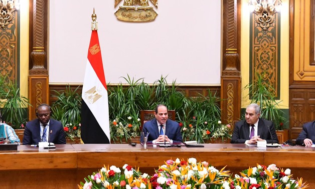Sisi with the heads of African constitutional courts - Press photo