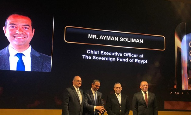 Chief Executive Officer of Egypt's Sovereign Wealth Fund Ayman Soliman receives an award by leading economics magazine Business Today – Egypt Today