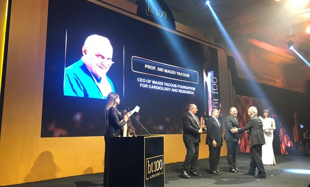 Egyptian British heart surgeon Magdi Yacoub on Tuesday was granted an award by leading economics magazine Business Today, but was not present during the ceremony - Egypt Today