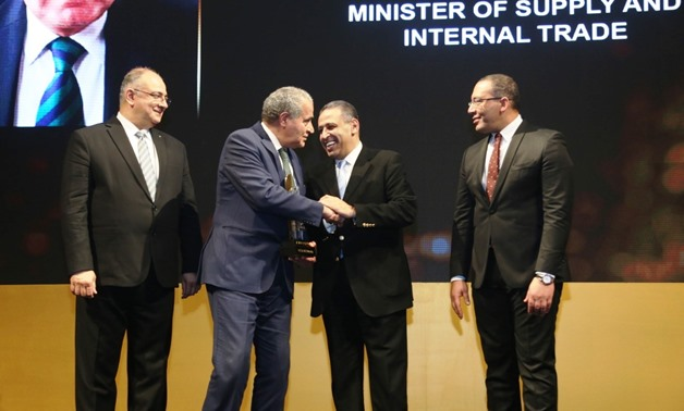 Egyptian Supply Minister Ali Moselhy on Tuesday was granted an award by leading economics magazine Business Today, during the annual BT100 ceremony that honors top influential figures and companies positively impacting the Egyptian economy - Egypt Today