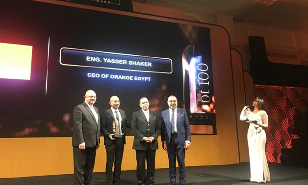 Orange Egypt has won the top data center operator in New Administrative Capital award at bt100 Awards, Tuesday - Egypt Today