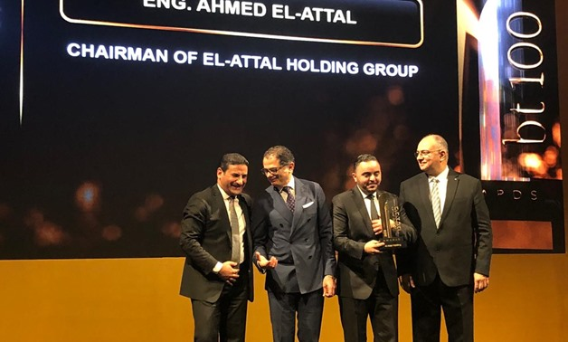 El-Attal Holding Group has won the fastest growing company in terms of projects size award at bt100 Awards - Egypt Today