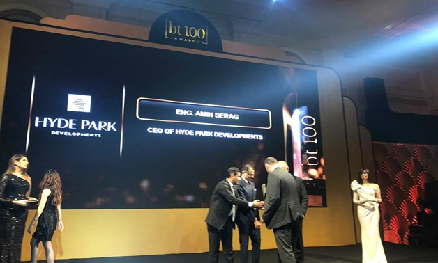 Hyde Park Developments wins top marketing and entertainment performance in the real estate sector at bt100 Awards - Egypt Today