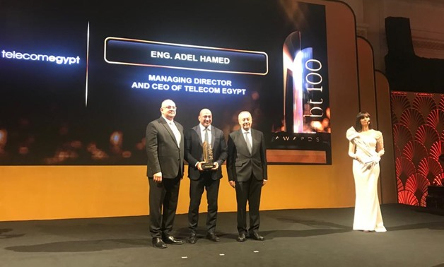 Telecom Egypt has won 2019 top infrastructure services provider award at bt100 Awards, Tuesday.