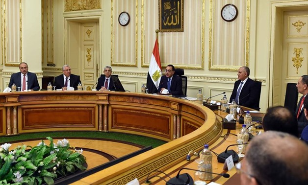 Prime Minister Mostafa Madbouli follows up the progress of a reclamation project of state-owned areas in Derb El Bahnasawi in the Upper Egyptian governorate of Minya - Press photo