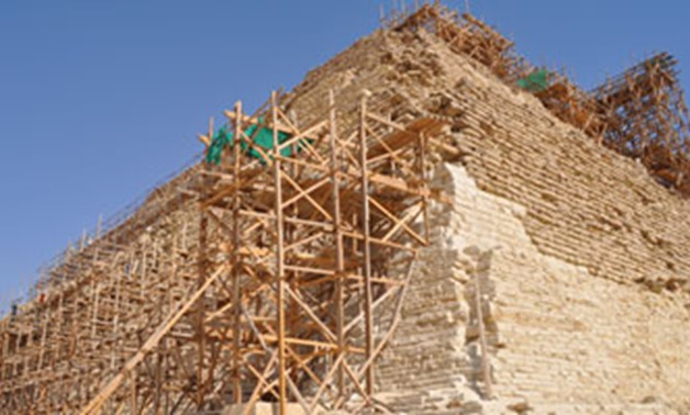 File - Djoser Pyramid during restoration.