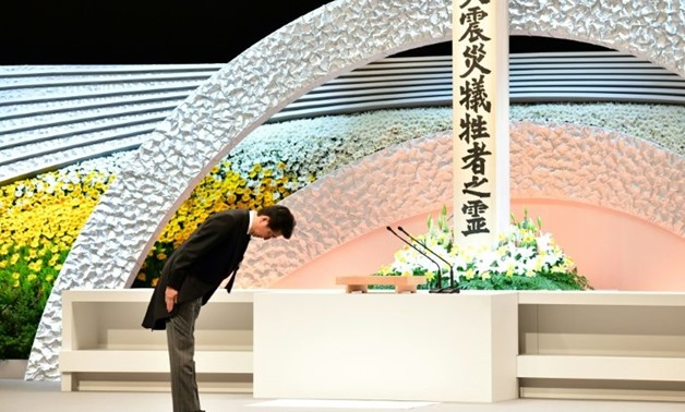 Japan has held the memorial ceremony for the 2011 disaster every year (AFP Photo/KAZUHIRO NOGI)