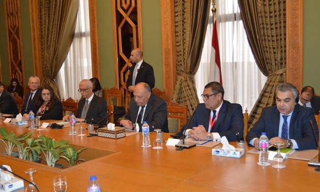 Egyptian foreign Minister SamehShoukry met on Thursday with African Ambassadors in Cairo on Thursday, March 5, 2020- press photo