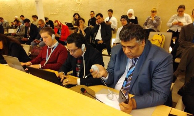 Representatives of Egypt's National Society for Rights and Freedoms, and the Association for the Freedom of Thought and Expression (AFTE) participated in Geneva-held 43rd Regular Session of the Human Rights Council (HRC) activities- Press photo