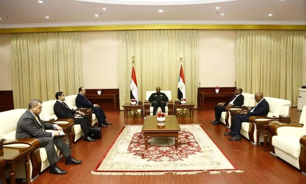 The head of the sovereignty council of Sudan, General Abdel Fatah al Burhan meets the Egyptian chief of General Intelligence Abbas Kamel: Press photo
