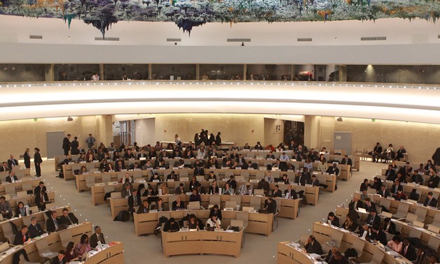 FILE - Human Rights Council, March 11, 2010