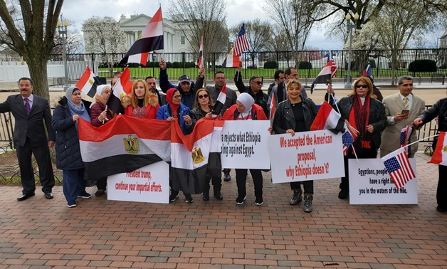 Egyptians' peaceful rally outside the White House: Photo taken by Egypt Today