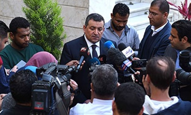 Egyptian Minister of Information Osama Heikal speaks to the media at the headquarters of the Cabinet downtown Cairo on Monday- Egypt Today staff/ Suleiman al-Oteifi