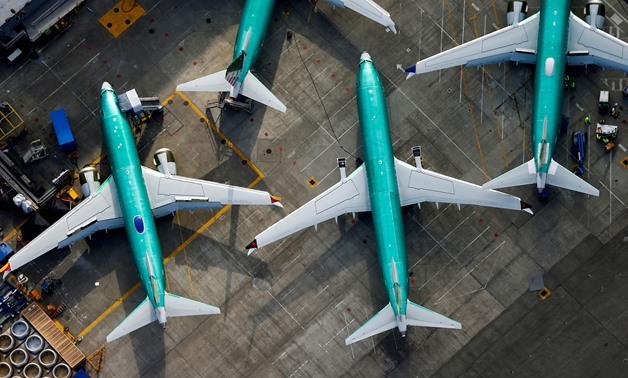 An aerial photo shows Boeing 737 MAX airplanes parked on the tarmac at the Boeing Factory in Renton, Washington, March 21, 2019. Lindsey Wasson | Reuters