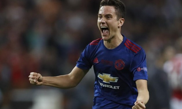 Football Soccer - Ajax Amsterdam v Manchester United - UEFA Europa League Final - Friends Arena, Solna, Stockholm, Sweden - 24/5/17 Manchester United's Ander Herrera celebrates after winning the Europa League Reuters / Lee Smith Livepic