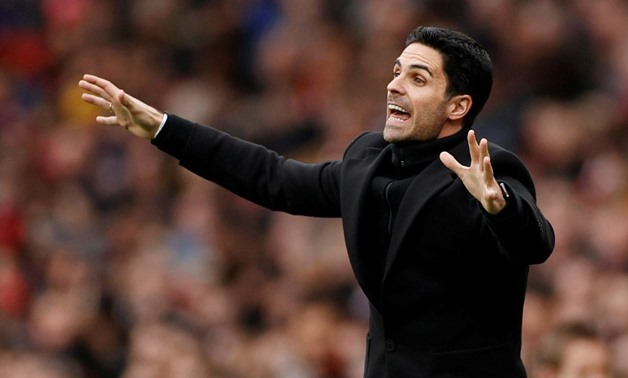 FILE PHOTO: Soccer Football - Premier League - Arsenal v West Ham United - Emirates Stadium, London, Britain - March 7, 2020 Arsenal manager Mikel Arteta Action Images via Reuters/John Sibley/File Photo