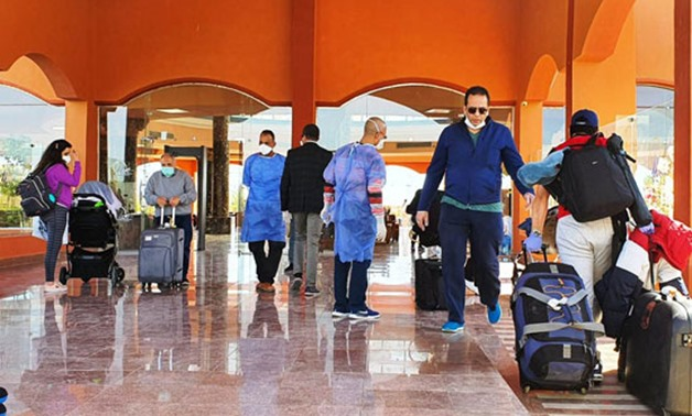 Arrival of Egyptians stranded in Washington, United States to Marsa Alam's quarantine hotel on April 3, 2020 – Press Photo
