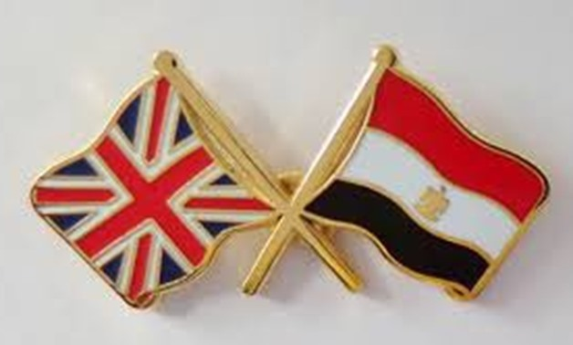 UK and Egyptian flags - Photo posted by Greg Hands on his Twitter account.