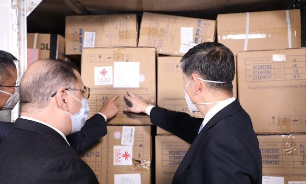 FILE- Egypt received a shipment of preventive medical supplies and coronavirus testers as a gift from China - Egypt Today