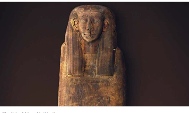 The faded ancient Egyptian sarcophagus - ET