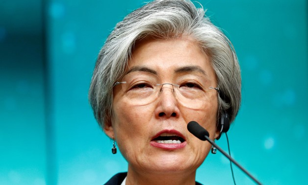 South Korean Foreign Minister Kang Kyung-wha speaks during a news conference in Seoul - REUTERS