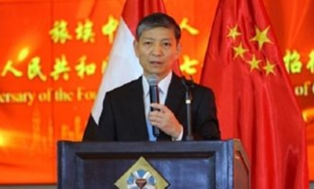 FILE - Chinese Ambassador to Egypt Liao Liqiang