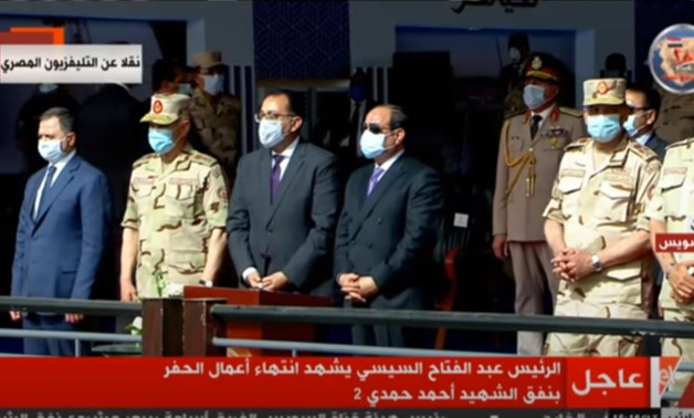 Sisi witnesses last day of drilling Suez-Sinai tunnel - Screenshot