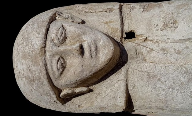 File - A mummy dating back to the 17th dynasty uncovered in Draa Abul Naga necropolis on Luxor's West Bank.