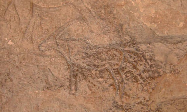 File- The newly discovered cave inscriptions.