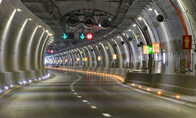 The inside of one of the Suez Canal tunnels - FILE