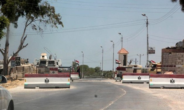 File: An army check point is seen in El-Arish city, in North Sinai July 15, 2013- Reuters