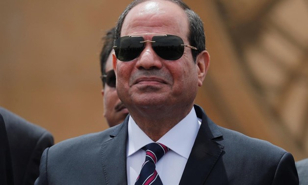 FILE PHOTO: Egyptian President Abdel Fattah al-Sisi attends the opening ceremony of floating bridges and tunnel projects executed under the Suez Canal in Ismailia, Egypt May 5, 2019. REUTERS/Amr Abdallah Dalsh