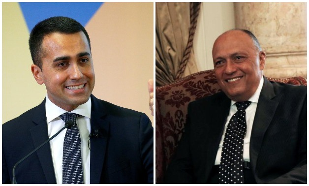 Compiled photo: Italian Foreign Minister Luigi Di Maio (L)(Reuters) and Egyptian Foreign Minister Sameh Shoukry (R)(Reuters)